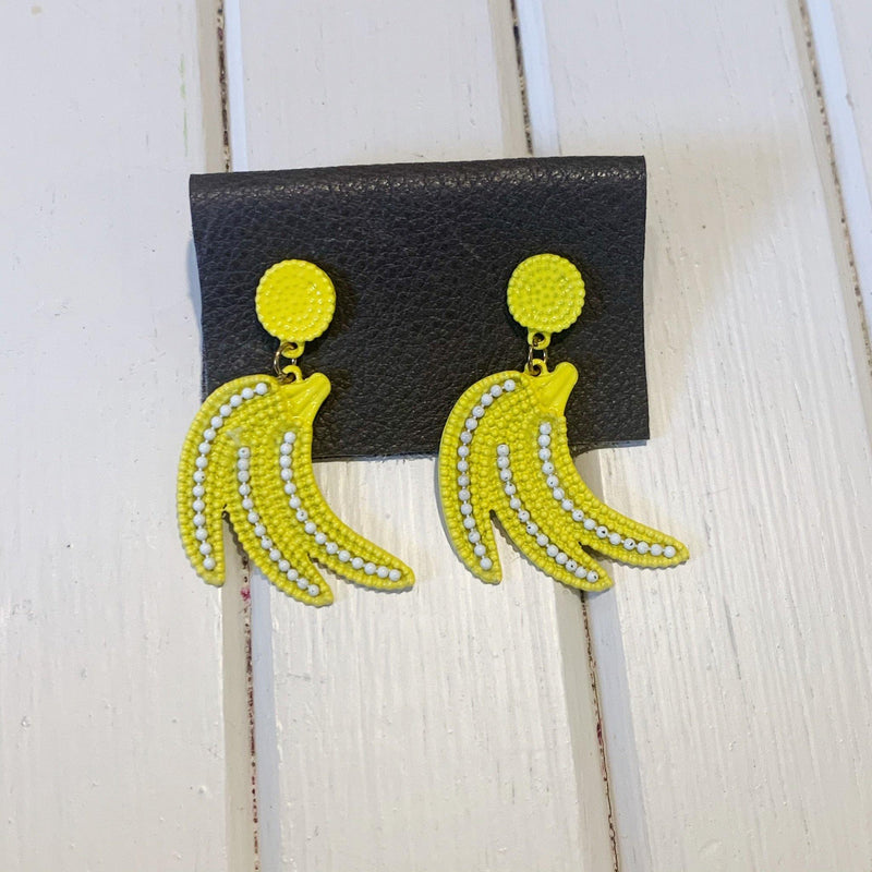Banana Earrings - 1 pair - Measure: a fabric parlor