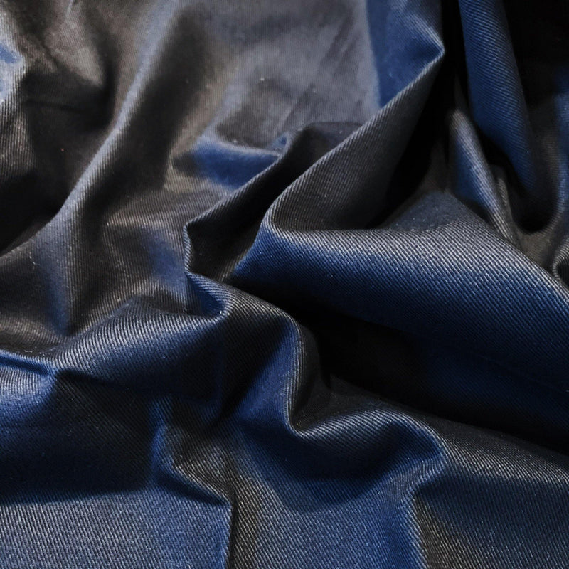 Navy Sueded Cotton Twill - Remnant - 1.44 Yards