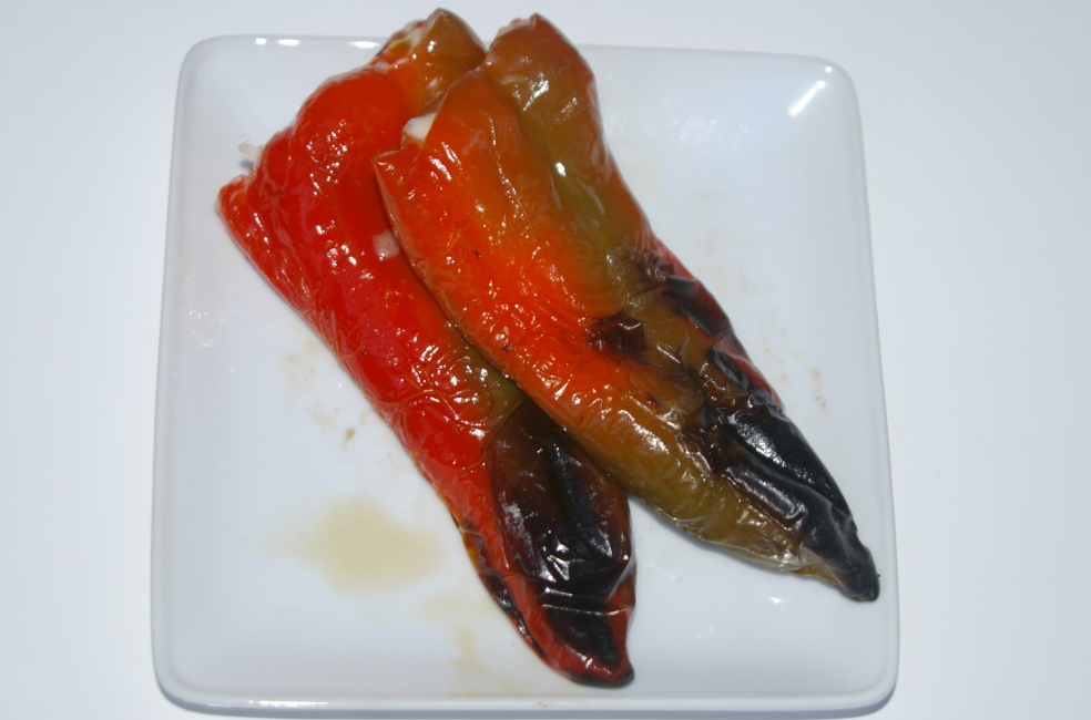 Grilled Chili Peppers Stuffed with Cheese