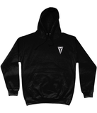 HEX AWDis College Hoodie Embroidered with White Dragon Eye Logo Jet Black
