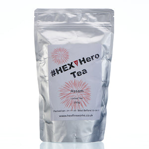 HEX Hero Assam Loose Tea in silver packaging