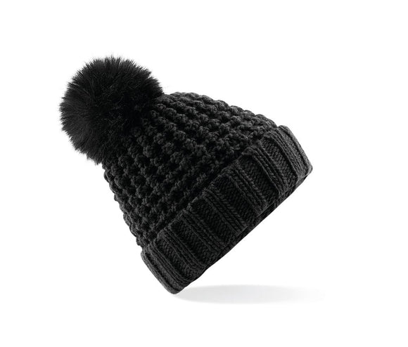 HEX Popcorn Pop Pom Beanie Black