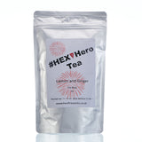 HEX Hero Lemon and Ginger Teabags in silver packaging