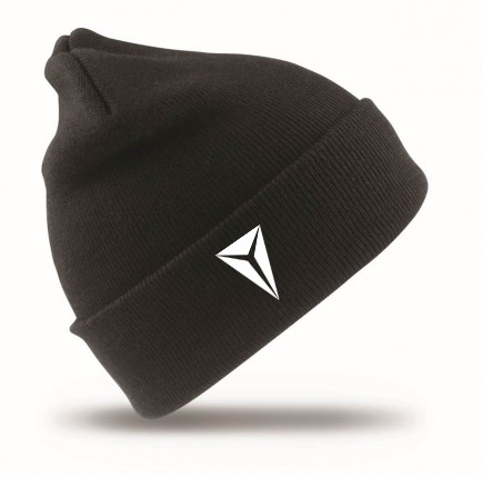Black Beanie Ski hat with HEX white logo