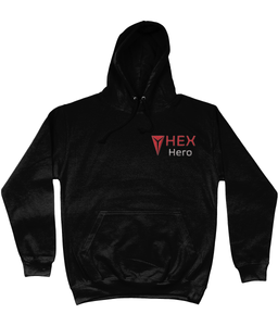 HEXHero Embroidered AWDis College Hoodie black