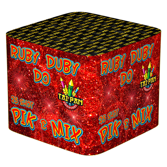 Absolute Fireworks 25 Shot Ruby Duby Do Pick and Mix Single Ignition Barrage