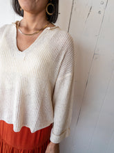 Load image into Gallery viewer, Natural Patch Sweater Top