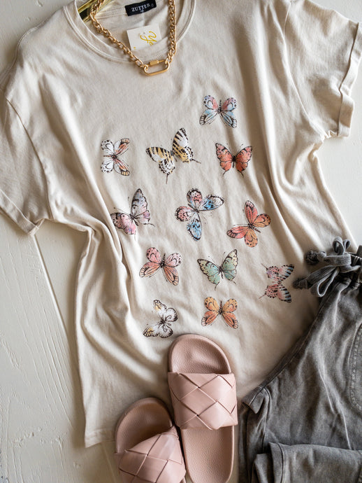 Allover Butterflies Tee