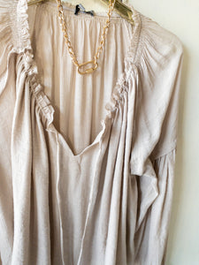 Champagne Peasant Blouse