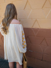 Load image into Gallery viewer, Reagan Off the Shoulder Embroidery Sleeve Dress