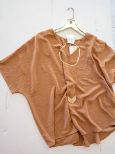 Toast Pocket V-Neck Blouse