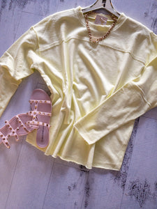 Lime Yellow Pullover Top