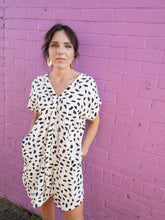 Load image into Gallery viewer, Short Sleeve Dalmatian Print Dress