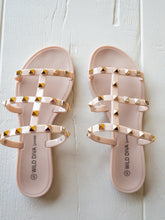 Load image into Gallery viewer, Joanie Stud Detail Sandals