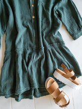 Load image into Gallery viewer, Faded Teal Gauze Dress
