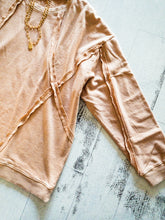 Load image into Gallery viewer, Faded Apricot Texture Sweatshirt