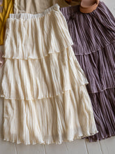 Load image into Gallery viewer, Tiered Accordion Pleat Midi Skirts