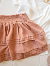 Load image into Gallery viewer, Blush Flare Layered Mini Skirt
