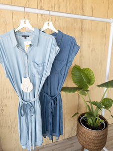 Stacy Staccato Denim Dresses