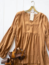 Load image into Gallery viewer, Toffee Peasant Blouse
