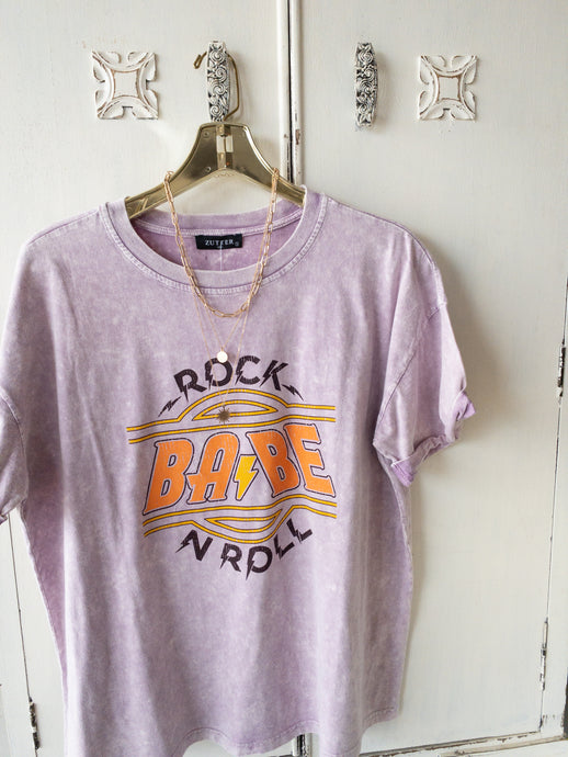 Mineral Wash Rock N Roll Tee