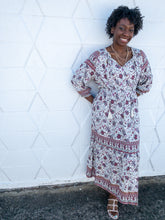 Load image into Gallery viewer, Paisley Boho Maxi Dress