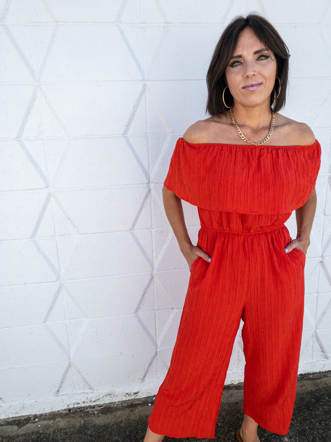 Flame Ankle Length Jumpsuit