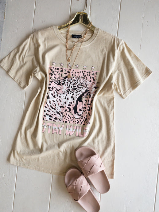 Cheetah Stay Wild Tee