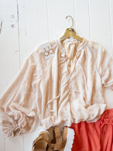 Load image into Gallery viewer, Metallic Print Peasant Blouse