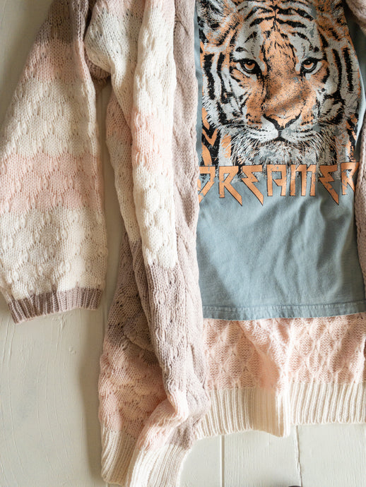 Light Blue Dreamer Tiger Tee