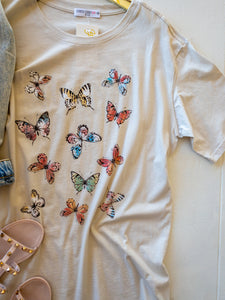 Plus Allover Butterflies Tee