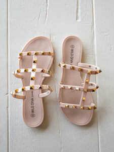 Joanie Stud Detail Sandals