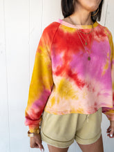 Load image into Gallery viewer, Coral Pink Cropped Sweatshirt