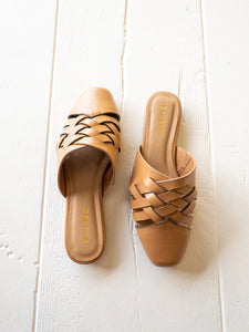 Tan Braided Mules