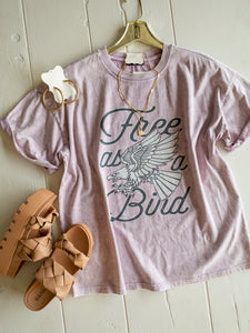 Lavender Free as a Bird Tee