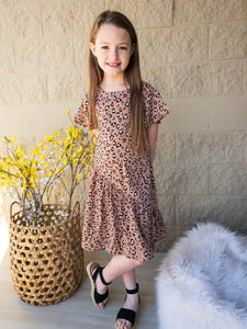 Girls Leopard Swing Dresses