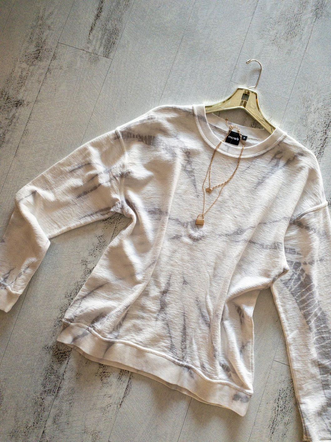 Natural Swirl Tie Dye Sweatshirt