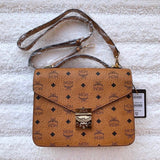 MCM Small Patricia Visetos Crossbody Bag