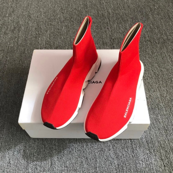 Red White Balenciaga Trainers