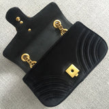Gucci Marmont Velvet Shoulder Bag-