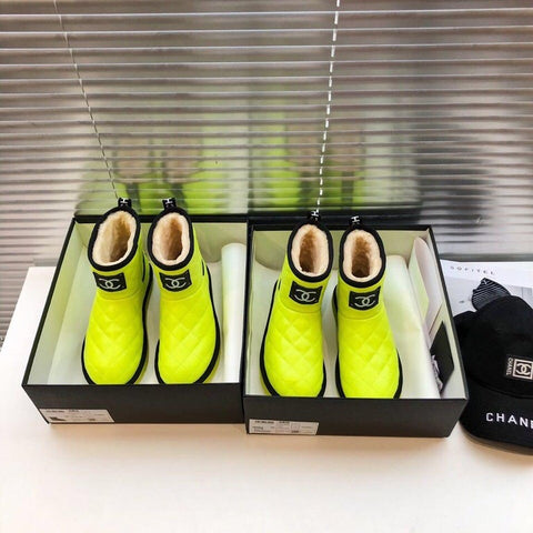 Chanel Winter Boots - Slime