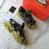 Flashtrek Hiking Sneakers with Removable Embellished Strap -Green