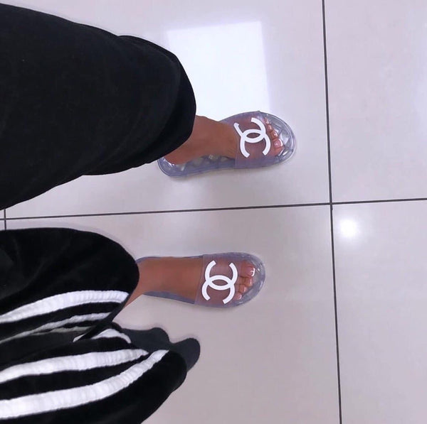 Chanel jelly slides