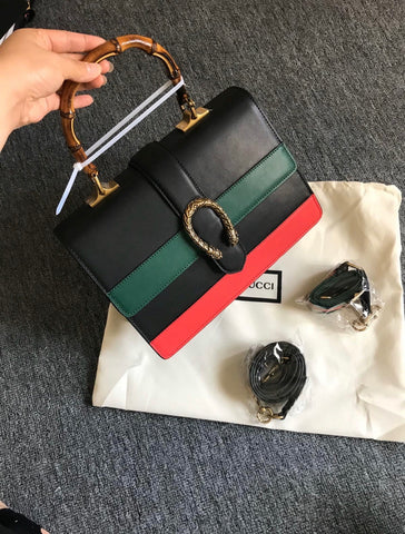 Gucci Black Large Dionysus Top Handle Bag