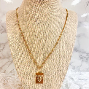 Tiger Tag Necklace