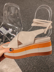 Multicolored Platform Wedges