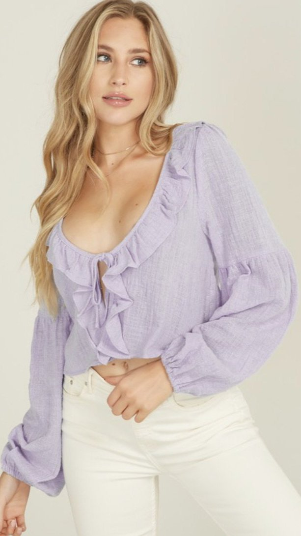 Forever Yours Lavender Top