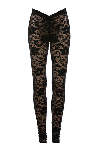 Black V's lace Veggings™