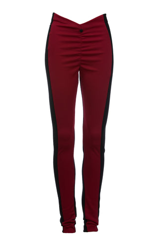 Cwtchy Cwtchy Burgundy and Black Back panel VEGGINGS™