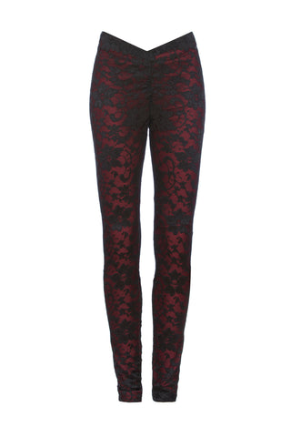 Burgundy Laced overlay Veggings™